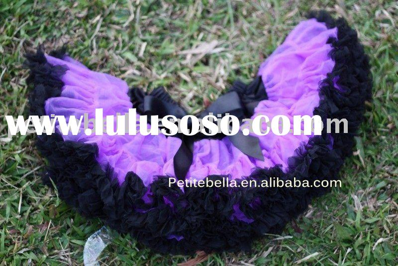 Black and Purple Full Pettiskirt Tutu Halloween
