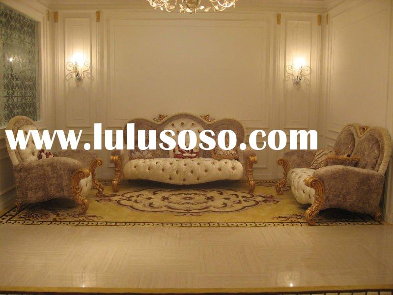 Classic living room farbic sofa sets with wood frame