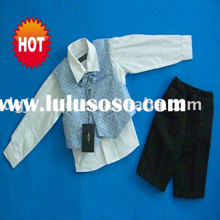 Classical 4pcs boy's sets with vest,shirt,pant,tie