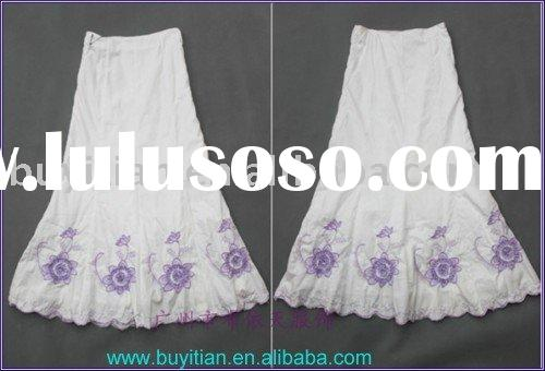 Cotton Embroidery long skirt