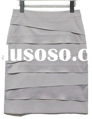 Fashion ladies skirt suit with panel