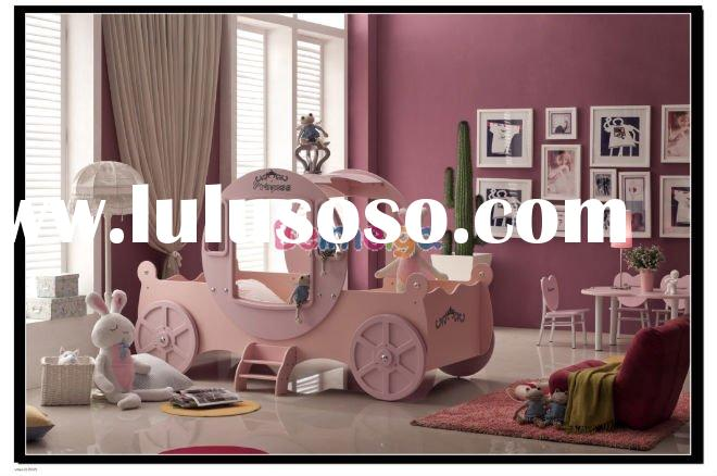 Kids Perfect Royal Princess Carriage Bedroom Sets for Girl 936T
