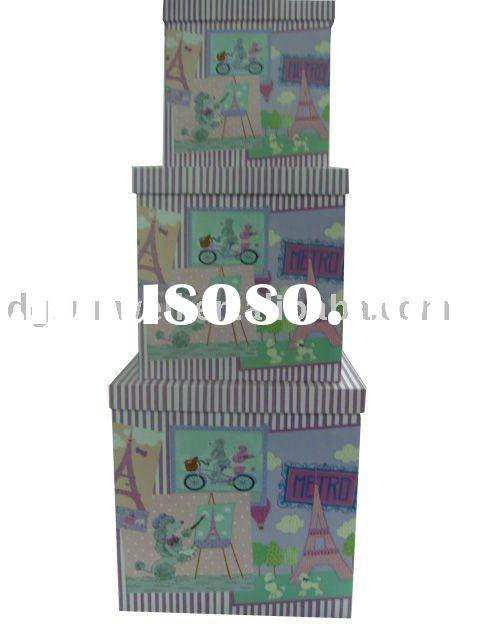Large Colorful Paper Gift Box