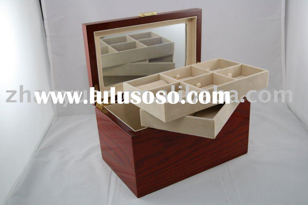 Large wooden jewelry case