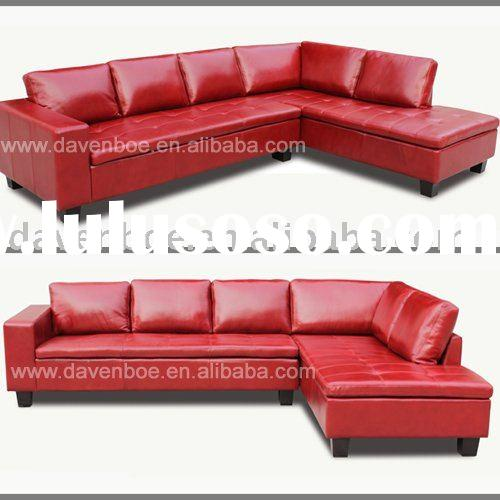 Leather modern corner sofa