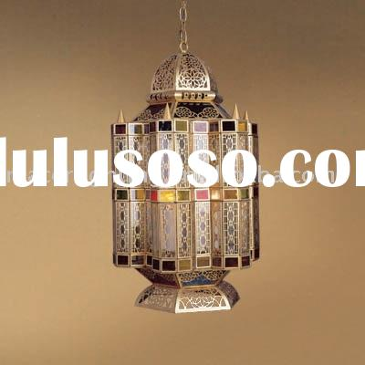 Moroccan&Arabian Style Brass Pendant Lamp Antique bronze finish