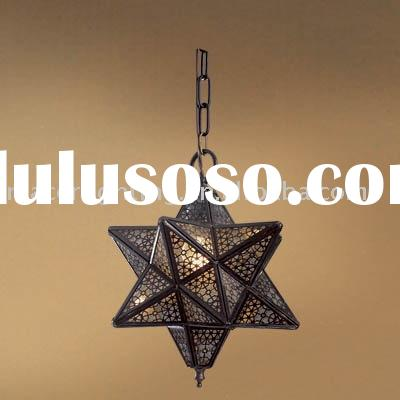 Moroccan star lantern, brass lamp in Antique bronze finish,pendant lamp