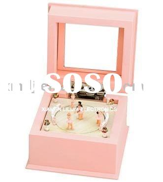 Musical Box with Ballerina; Wooden craft; Gifts