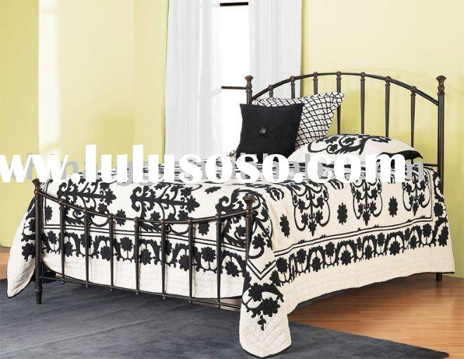 Neoclassic king wrought iron bedroom furniture