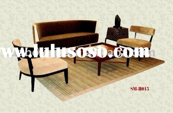 Sofa set (Malaysia rubber wood upholstery fabric HB-003)
