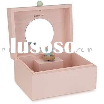 Wooden musical jewelry box