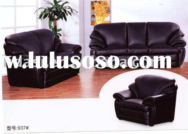 black leather l+2+3 classic sofa furniture