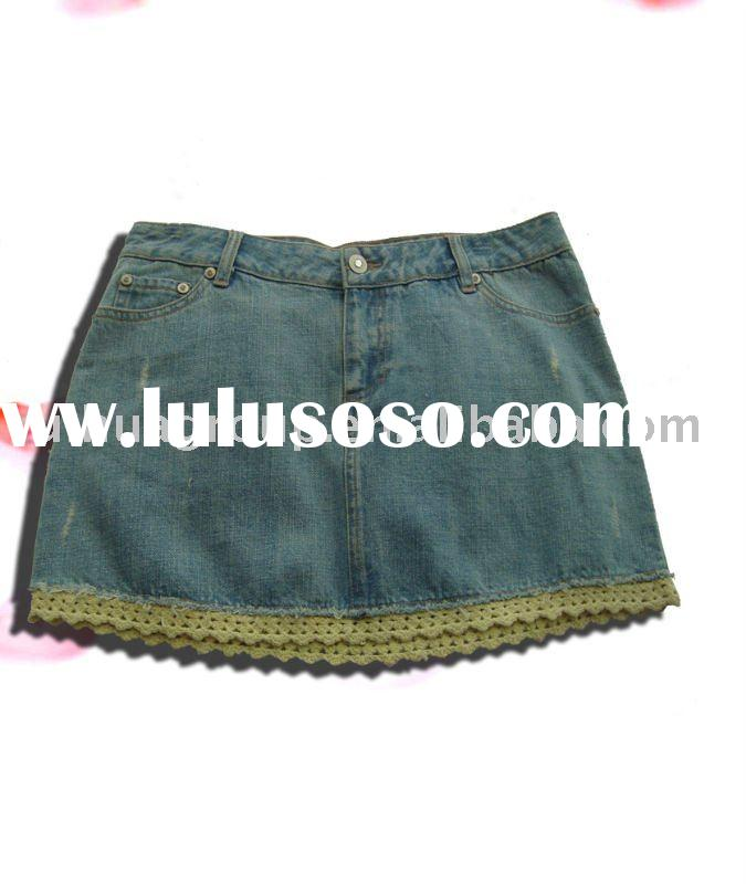 lace Jean skirt