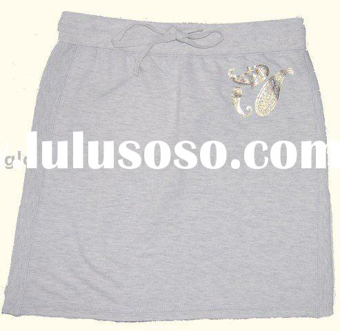 ladies' casual skirt with embroidered