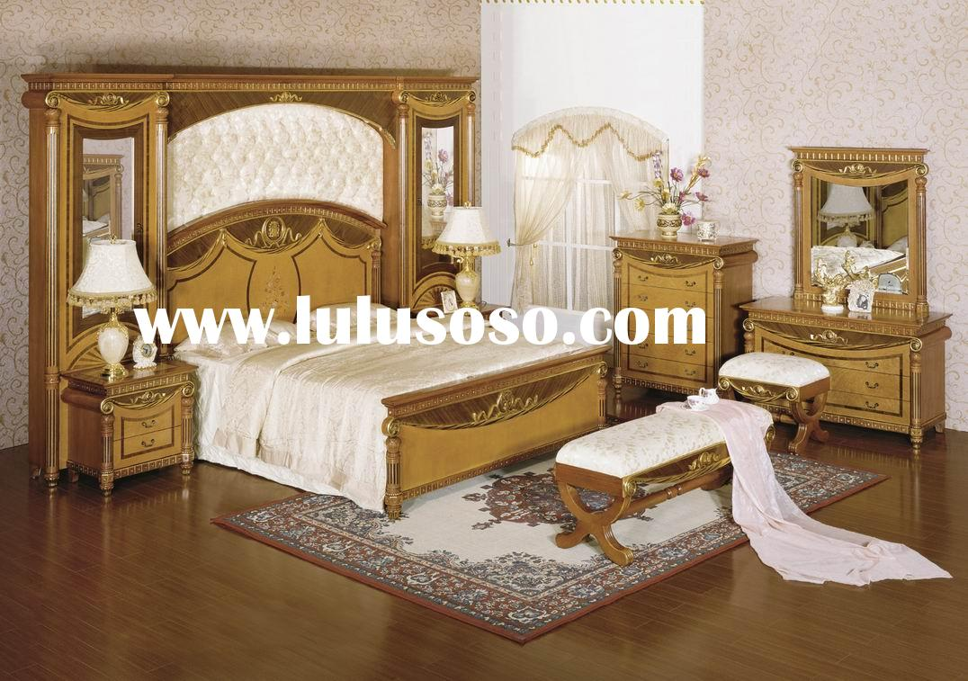 2011 The Newest Palace Royal Bedroom Set Furniture Luxurious Bedroom Set Solid Wood White