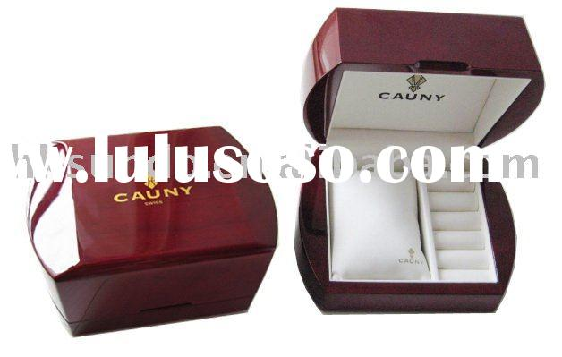 personalized high gloss finished wooden watch box