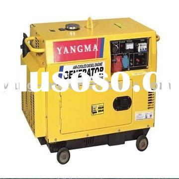 portable kipor/yanmar diesel engine power silent generator 5kw