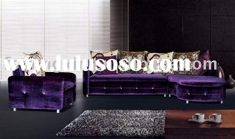 purple fabric sofa 832A
