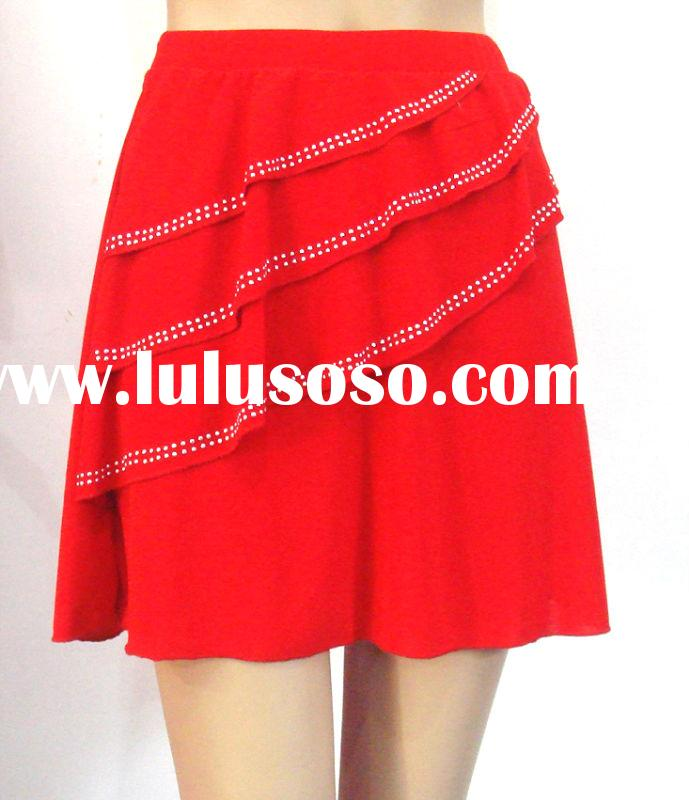 red short dance skirt