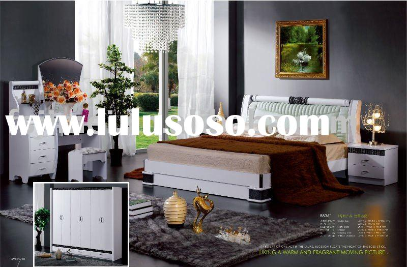 shinining white modern bedroom Furniture Set