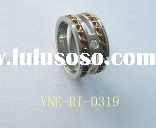 stainless steel  jewelry rings with chiain&promotiom price