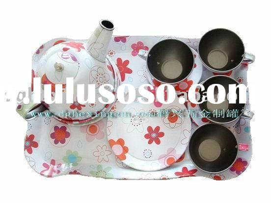 tin tea set