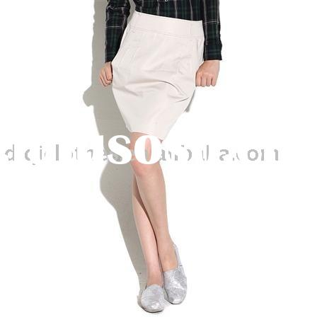 white fashion short winter skirt