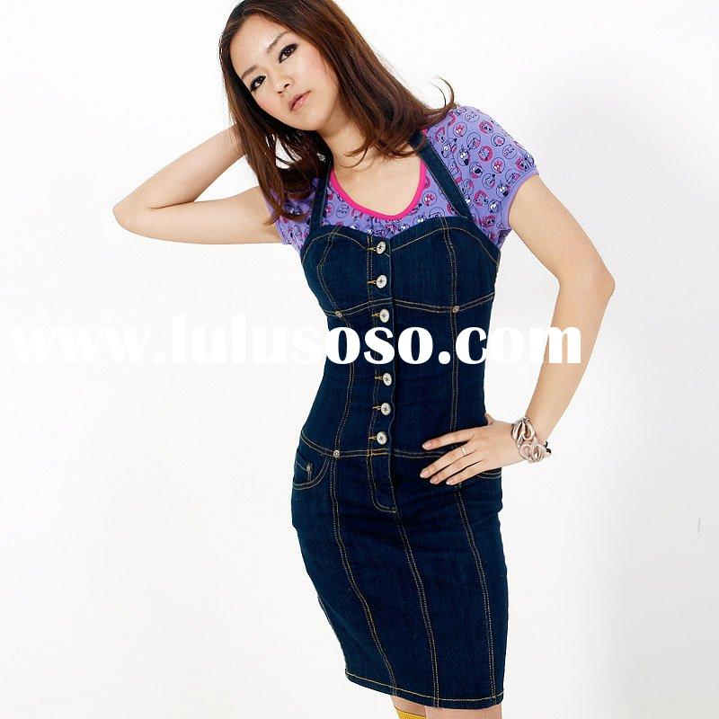 women's dress skirt, leisure denim dress, 2010 style [cc2706]