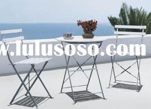 Alice plastic wood/steel outdoor furniture set 61076