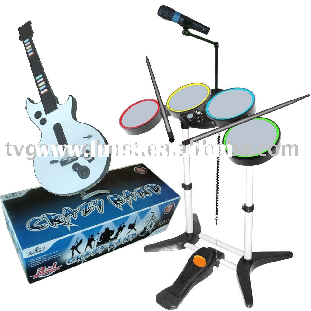 Crazy Band Drum Kit Set for PS2,PS3,WII Games