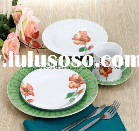 Fresh color porcelain kids dinnerware set