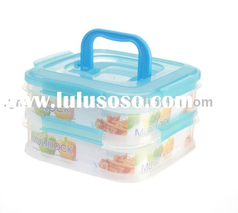 Multifunction plastic food container