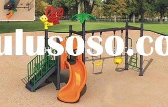 Outdoor playground for plastic swing and slide set