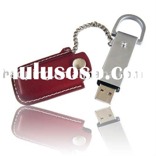 promotion gift usb leather