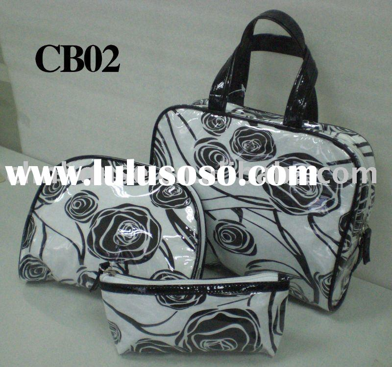 2010 fashion clear pvc cosmetic bag - CB02 set