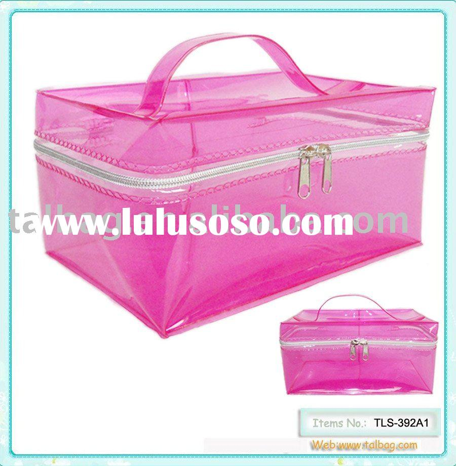 Clear pvc bag cosmetic case