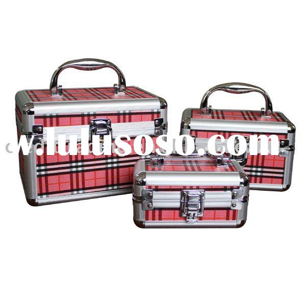 Grid Hair Aluminum 3pcs tool Case set