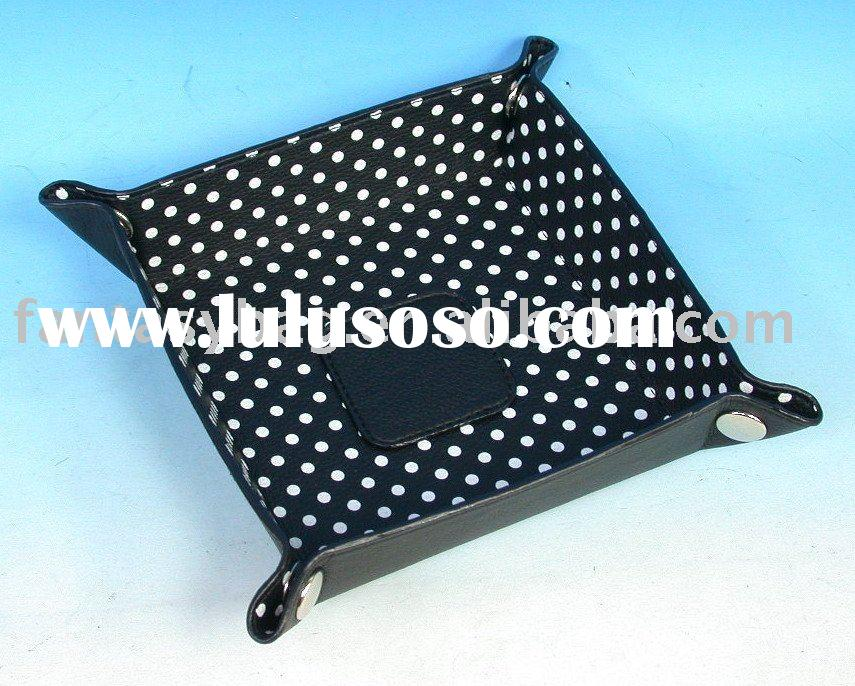 Polka Dot Nylon Cosmetic Bag Travel Tray