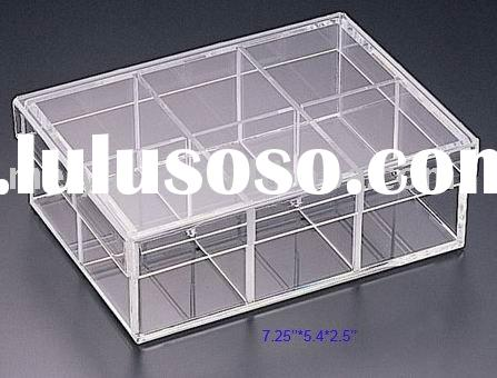 acrylic compartment box