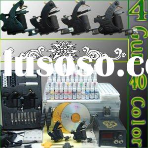 complete tattoo kit 4 gun 40 color ink tattoo power supply
