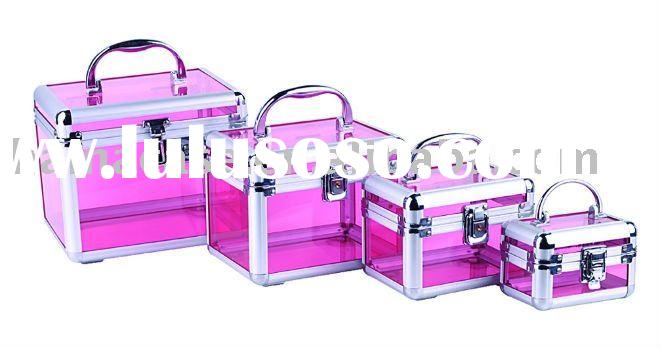 pink acrylic dressing cases