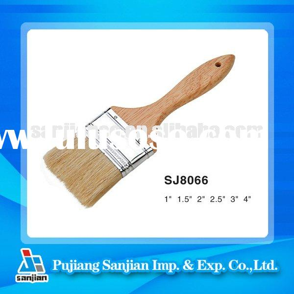 wooden handle with 100% Pure bristle paint brush