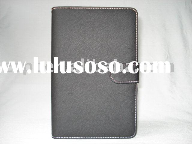 2010 Hot: Netbook Leather Case/ Flip Book/Jacket/Folio for Tablet PC