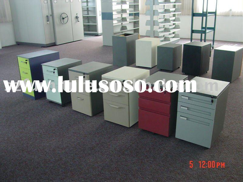 3 Drawers Metal Mobile Pedestal Cabinet with 5 wheels