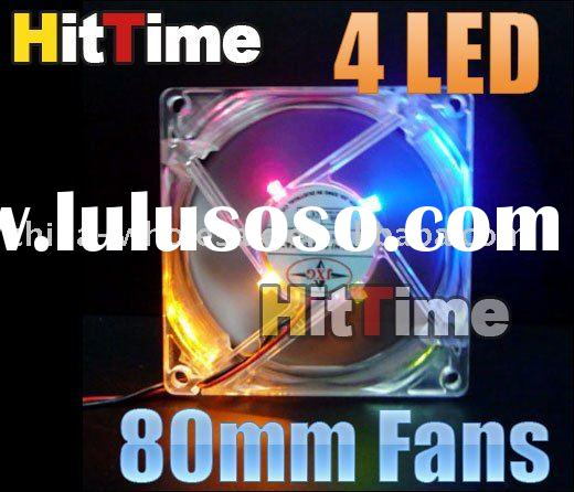 80mm Fans 4 LED Color For Computer PC Case Cooling Wholesale Free Shipping