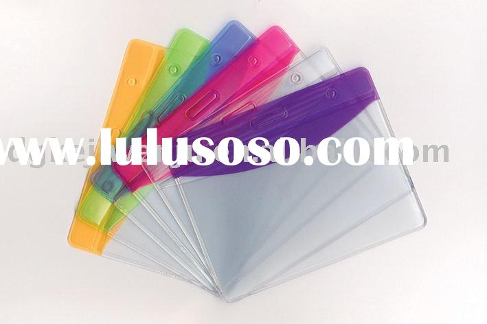 Color Badge Holder, Card pocket,badge wallet,id card holder plastic,clear pvc pocket holder