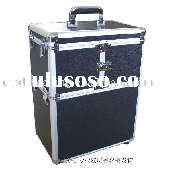 Double layer beauty care and hair care professional Aluminum Case