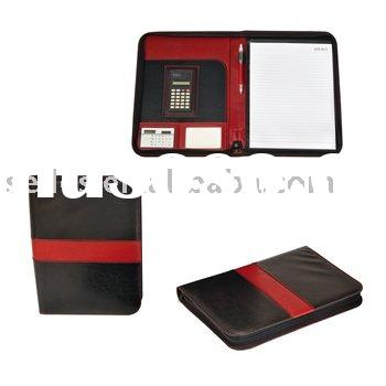 Fantastic personalized multi-functional hardcover notebook with ball pen card holder and calculators