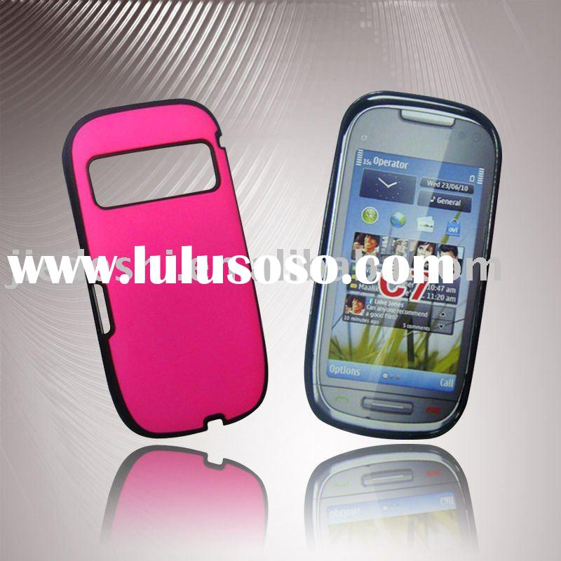 For Nokia C7 Combo Half Hard Case with Rubber Oil on PC Part (Combined by Tpu and PC case)