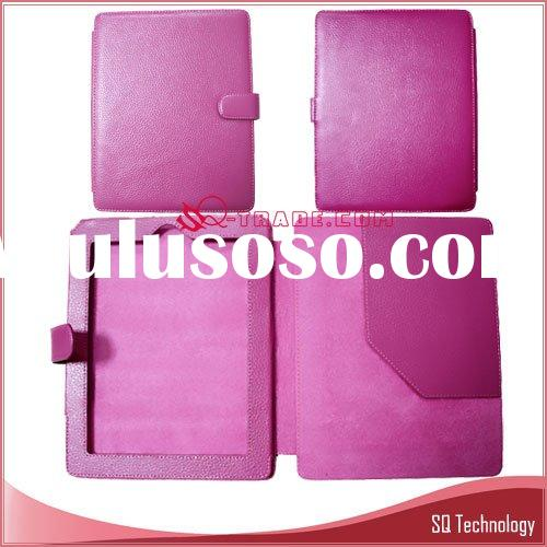 Genuine Leather Case for iPad hot pink colour